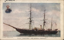USS Hartford and Admiral Farragut
