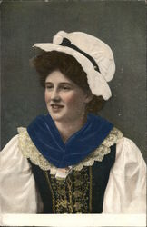 A Woman in Victorian Clothing and Hat
