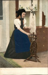Woman working on a loom