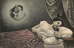 Woman Sleeping and Dreaming of a Man