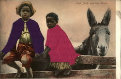 Two Children with Donkey