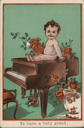 We Have a Baby Grand Postcard