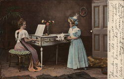 Easter Greeting - Women at Piano