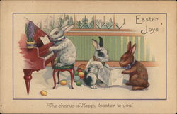 Easter Joy - Bunnies Playing Piano