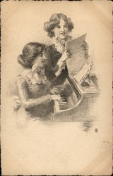 Two Women at Piano