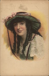 Young Woman in Green Hat (Actress?)