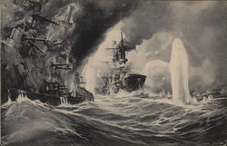 German Ships in a bad storm