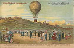 Hot Air Balloon in Paris Postcard
