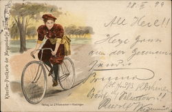 Woman Biking.