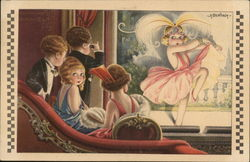 Illustration of Flapper Children Watching Bawdy Show