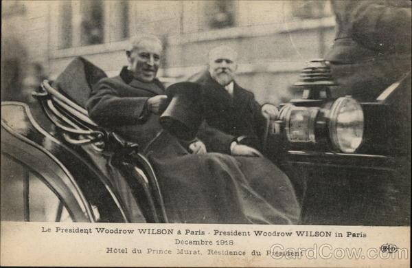 President Woodrow Wilson in paris Decenbre 1918 Hotel du Prince Murat, Residence du President