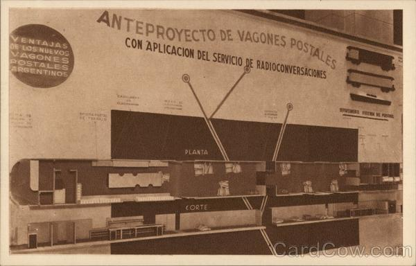 Preliminary Project for Postal Railroad Cars Buenos Aires Argentina
