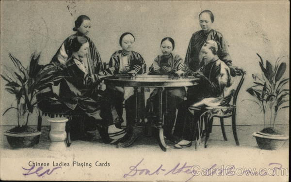 Chinesee Ladies Playing Cards China