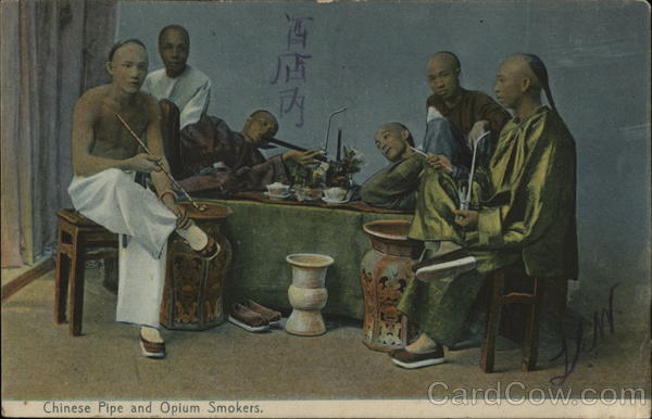 Chinese Pipe and Opium Smokers China