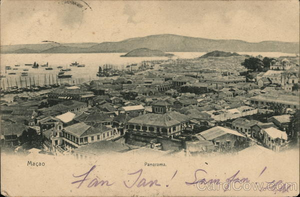 Panoramic View, Mailed from Hong Kong