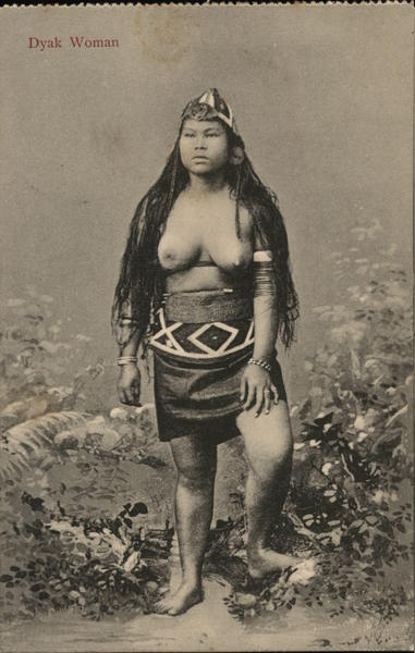 Dyak Woman, Topless Indonesia Asian