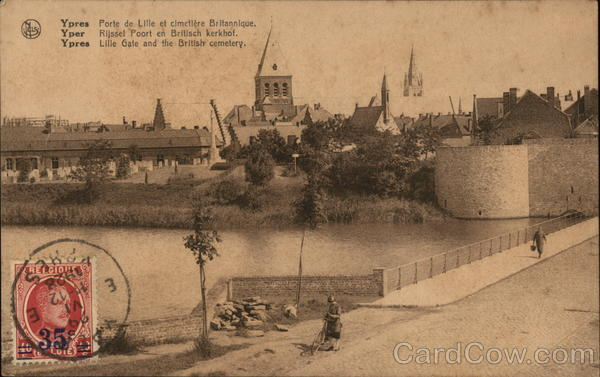 Lille Gate and the British Cemetery Ypres Belgium Benelux Countries