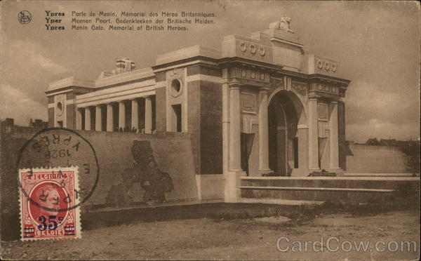 Ypres Menin Gate, Memorial of British Hereos Belgium