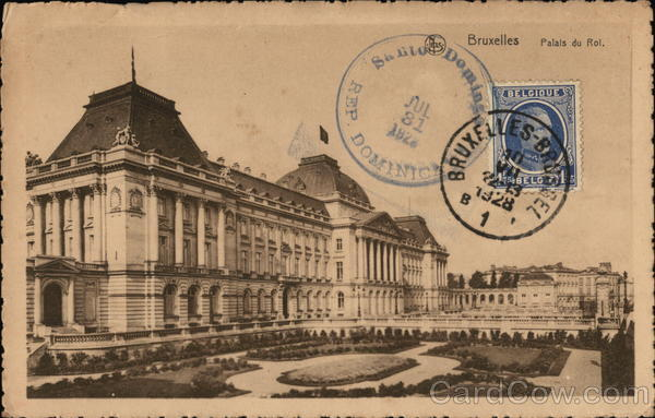 Royal Palace Brussels Belgium Benelux Countries Cancelled on Front (COF)