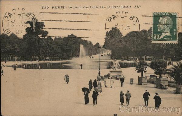 Paris le jardin des tulleries le grand bassin france - Grand bassin de jardin ...