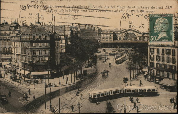 Boulevard de Strasbourg Paris France Cancelled on Front (COF)