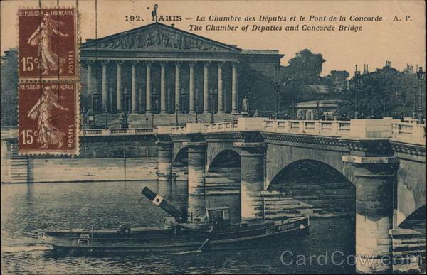 La Chambre des Deputes et le Pont de la Concorde