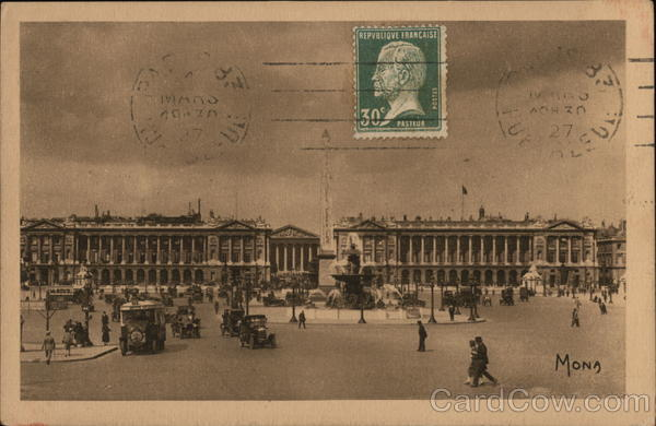 Paris - La place de la concorde France Cancelled on Front (COF)