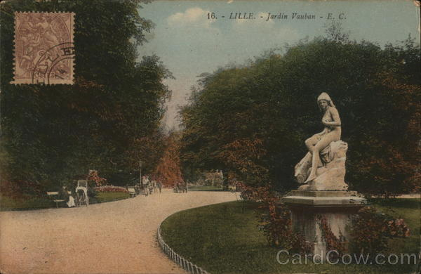 Jardin Vauban - E. C. Lille France Cancelled on Front (COF)