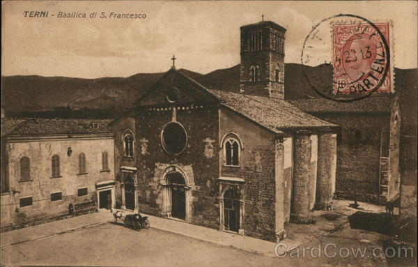 Basilica di S. Francesco Terni Italy Cancelled on Front (COF)