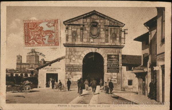 Pavia - Ingresso del Ponte sul Ticino