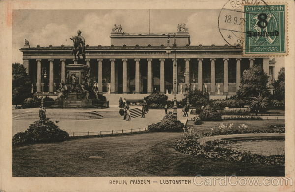 Museum - Lustgarden Berlin Germany Cancelled on Front (COF)