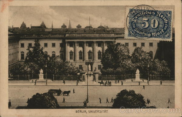 Universitat Berlin Germany Cancelled on Front (COF)