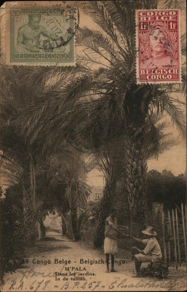 Dans les Jardins M'Pala Belgian Congo Africa Cancelled on Front (COF)