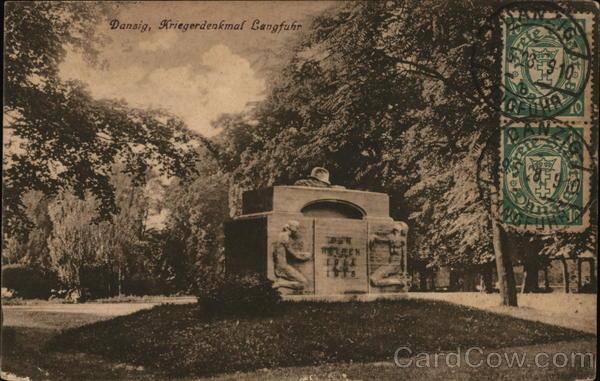 Kriegerdenkmal Langfuhr Danzig Poland Eastern Europe