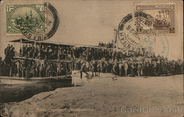 River Transport, Mesopotamia Military Cancelled on Front (COF)