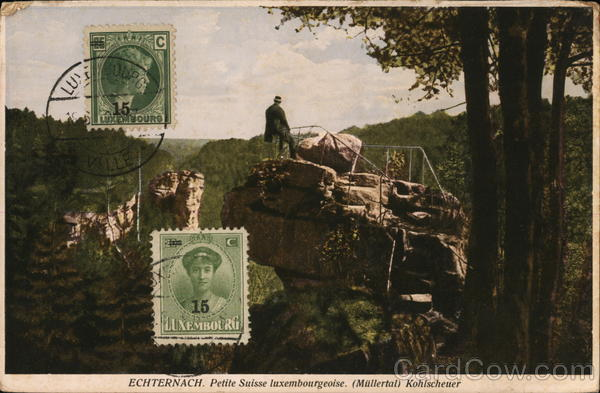 Kohlsheuer Echternach Luxembourg Cancelled on Front (COF)
