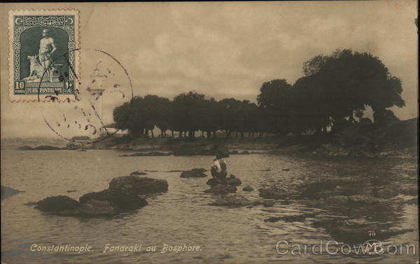 Fanaraki at the Bosphorus, Ottoman Empire  Constantinople (Istanbul) Turkey