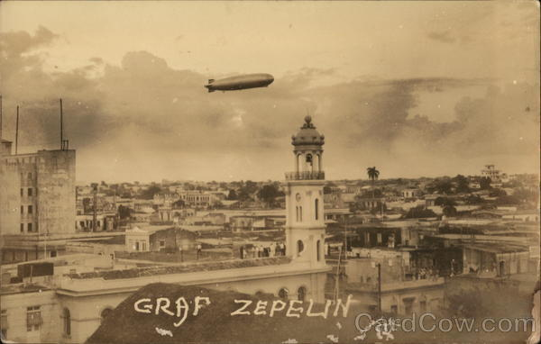 Graf Zeppelin over Santo Domingo October 1933 Dominican Republic