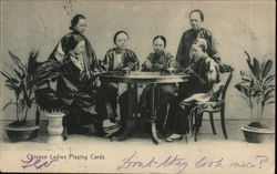 Chinesee Ladies Playing Cards