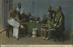 Chinese Pipe and Opium Smokers