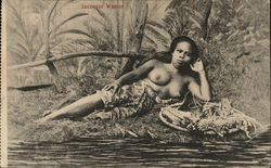 Javanese Woman, Topless Postcard