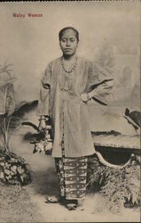 Malay Woman Postcard