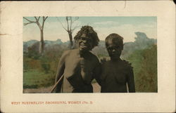 West Australian Aboriginal Women, Nude Postcard