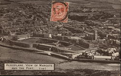 Aeroplane View of Margate and the Fort