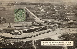 Aeroplane view of Walpole Bay & Queen's Bandstand, Margate