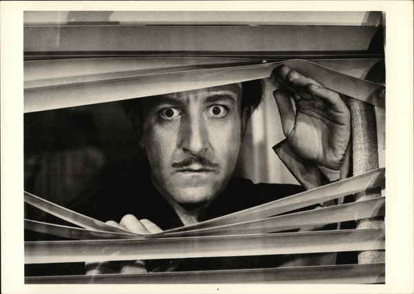 Peter Sellers Peeking Through Blinds, 1963 Actors