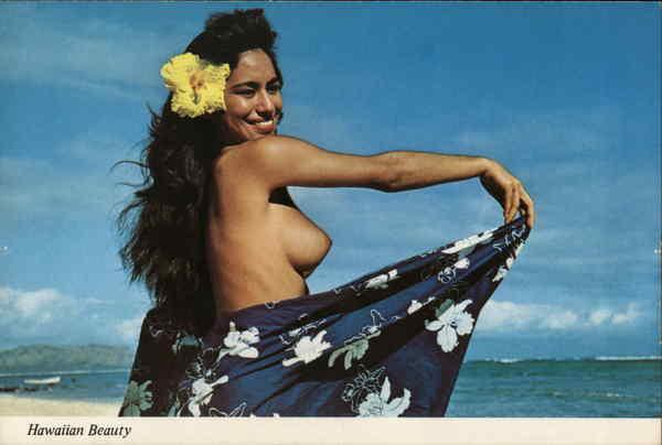 Hawaiian Beauty Postcard