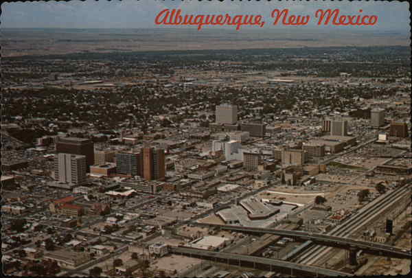 Aerial View of New Mexico's Largest City Albuquerque