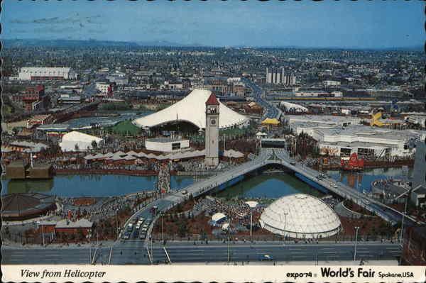 view from helicopter spokane wa expo 74 spokane worlds