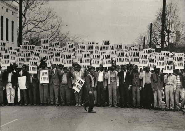 1968 I AM A MAN Sanitation Workers Strike Memphis Tennessee